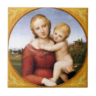 La baldosa cerámica de Cowper Madonna de Raphael Azulejo Cuadrado Pequeño