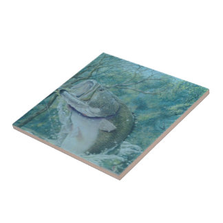 La baldosa cerámica del pescador azulejo cuadrado pequeño