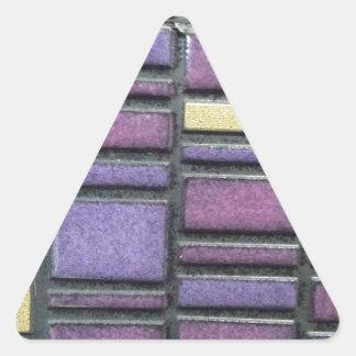 La baldosa cerámica púrpura y azul remezcla pegatina triangular