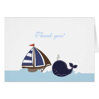 La ballena azul de las naves Ahoy doblada le Tarjeta Pequeña