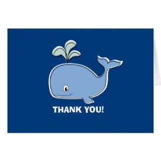 La ballena azul le agradece cardar felicitación