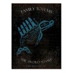 La ballena de la espada tarjeta postal