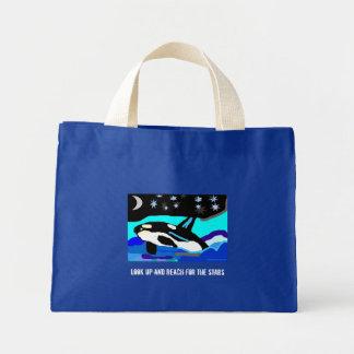 La ballena de la orca de la estrella de Nightime,  Bolsa De Tela Pequeña
