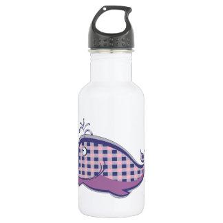 La ballena ligera de la púrpura de la tela