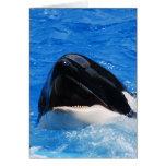 La ballena suena la tarjeta de felicitación
