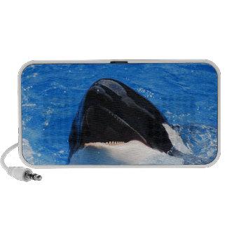 La ballena suena los altavoces portátiles