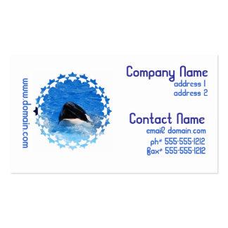 La ballena suena tarjetas de visita
