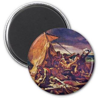 La balsa de la medusa (estudio) por Géricault Jean Imán Redondo 5 Cm