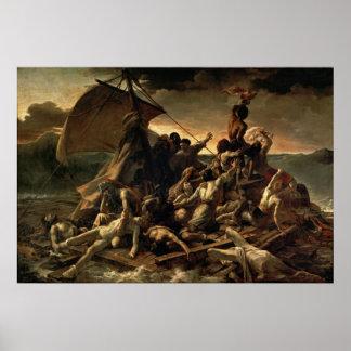 La balsa de la medusa - Théodore Géricault Póster