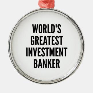 La banca de inversiones más grande de los mundos adorno navideño redondo de metal
