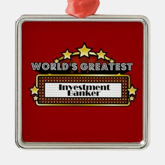 La banca de inversiones más grande del mundo adorno navideño cuadrado de metal