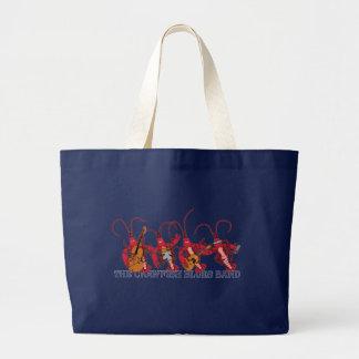 La banda de azules de los cangrejos bolsa de tela grande