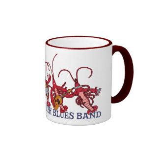 La banda de azules de los cangrejos taza de café