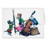 La banda de los gatos del jazz tarjeta de felicitación