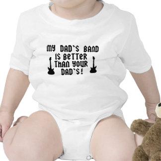 La banda de mi papá es mejor que su papá camiseta