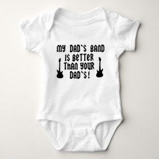La banda de mi papá es mejor que su papá camisetas
