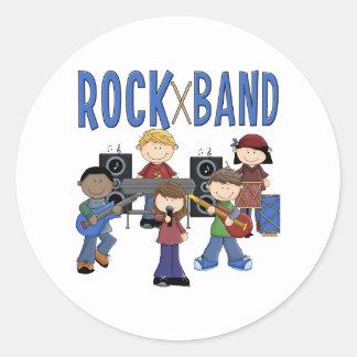 La banda de rock embroma el regalo pegatina redonda