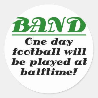 La banda fútbol día será jugada en de medio tiempo pegatina redonda