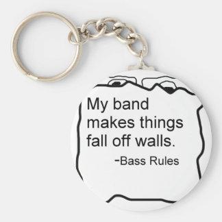 La banda hace caída de las cosas de reglas del baj llaveros