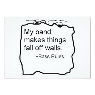 La banda hace caída de las cosas de reglas del invitación 12,7 x 17,8 cm