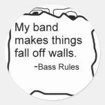 La banda hace caída de las cosas de reglas del etiquetas redondas