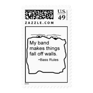 La banda hace caída de las cosas de reglas del franqueo