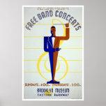La banda libre concierta WPA 1941 Posters