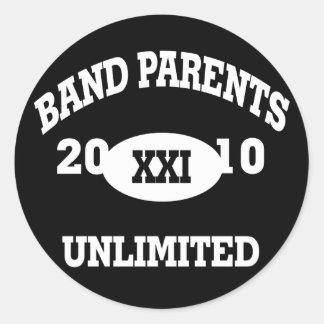 La banda Parents 2010 ilimitado Pegatina Redonda