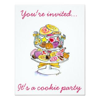 """la bandeja de la galleta que le invitan…, él es un invitación 4.25"""" x 5.5"""""""