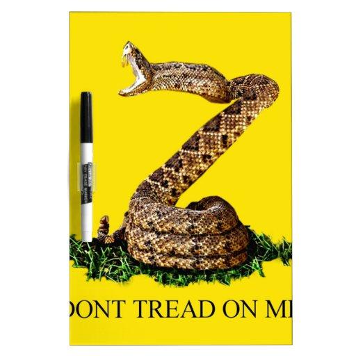 La bandera 2013 de Gadsden - no pise en mí (el cua Pizarras Blancas De Calidad