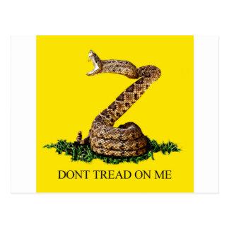 La bandera 2013 de Gadsden - no pise en mí (el Tarjeta Postal