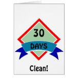 La bandera 30 días limpia tarjeton