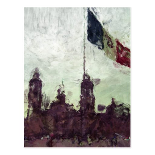 La Bandera 3 de la estafa del EL Zocalo del DF del Tarjetas Postales