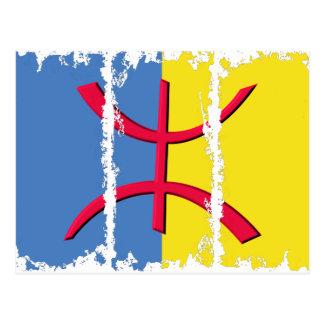 La bandera 3Tall sucio de Kabylia encajona la post
