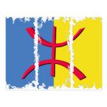 La bandera 3Tall sucio de Kabylia encajona la post Postales