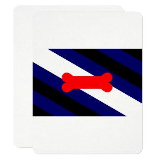 """La bandera 4,25"""" del orgullo del juego del perrito invitación 4.25"""" x 5.5"""""""