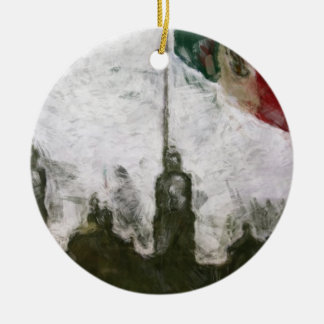 La Bandera 4 de la estafa del EL Zocalo del DF del Adorno Redondo De Cerámica