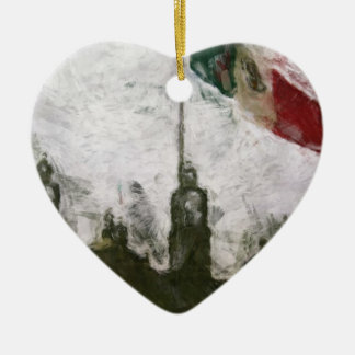 La Bandera 4 de la estafa del EL Zocalo del DF del Adorno De Cerámica En Forma De Corazón