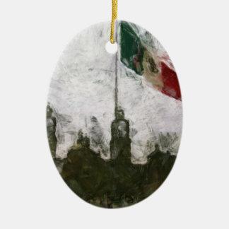 La Bandera 4 de la estafa del EL Zocalo del DF del Adorno Ovalado De Cerámica