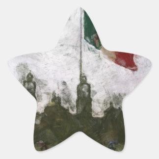 La Bandera 4 de la estafa del EL Zocalo del DF del Pegatina En Forma De Estrella