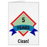 La bandera 5 AÑOS limpia Tarjetas