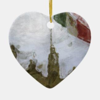 La Bandera 5.jpg de la estafa del EL Zocalo del DF Adorno De Cerámica En Forma De Corazón
