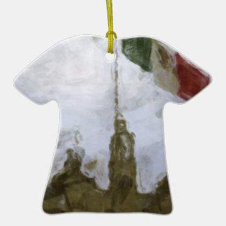 La Bandera 5.jpg de la estafa del EL Zocalo del DF Adorno De Cerámica En Forma De Playera