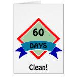 La bandera 60 días limpia tarjetas