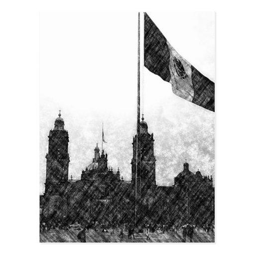 La Bandera 8 de la estafa del EL Zocalo del DF del Postal
