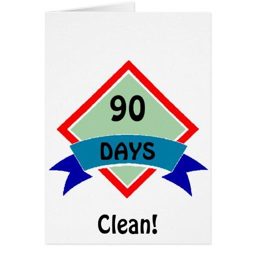 La bandera 90 días limpia tarjeta