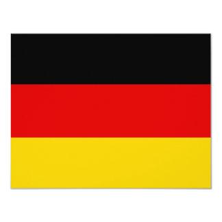 La bandera alemana más barata invitación 10,8 x 13,9 cm