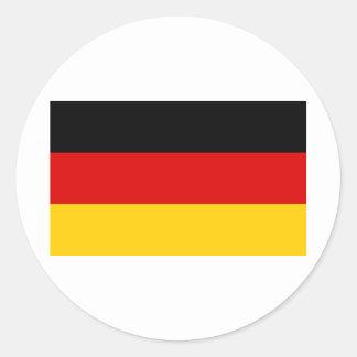 La bandera alemana más barata pegatina redonda