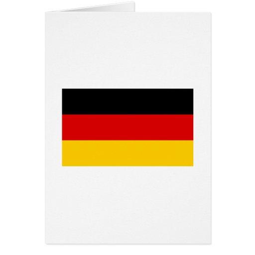 La bandera alemana más barata tarjeta de felicitación