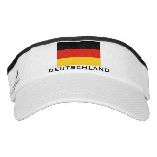 La bandera alemana se divierte el gorra del visera